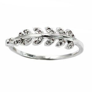 Fashion flashing small leaf ring